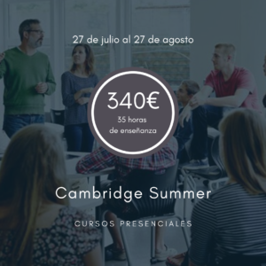 Cursos intensivos de Cambridge en verano