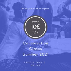 Aprender inglés en verano - Academia de inglés 4 Real English en Pamplona - Clases de conversación